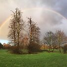 Rainbow over Tooting Common by Ludwig Wagner