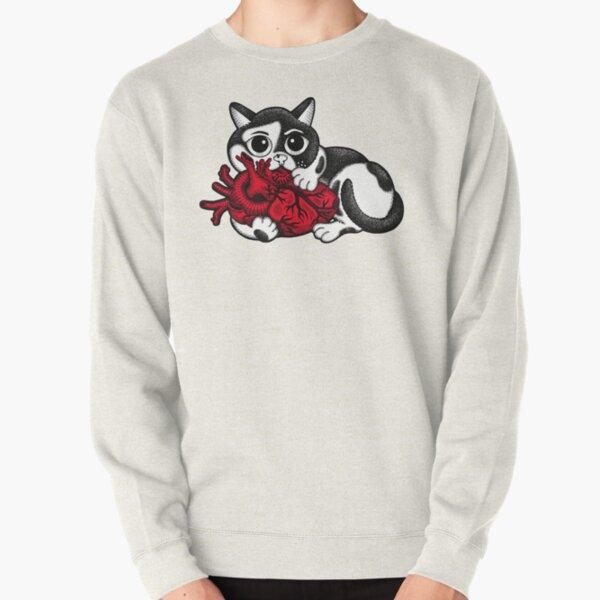 Cat's Big Heart Pullover Sweatshirt