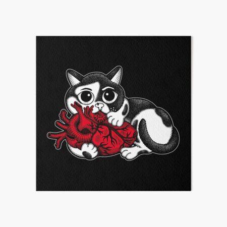 Das große Herz der Katze Galeriedruck