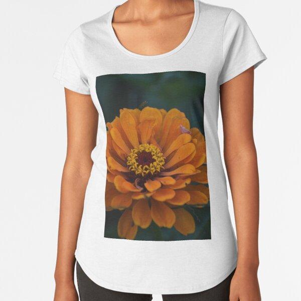 Orange Zinnia Premium Scoop T-Shirt