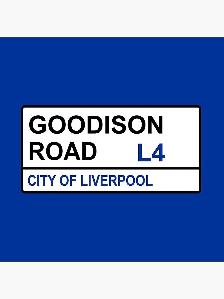 Everton FC Goodiston Road Street Sign