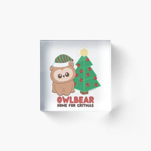 Owlbear Home for Critmas Acrylic Block