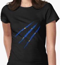 Europe flag Women's Fitted T-Shirt