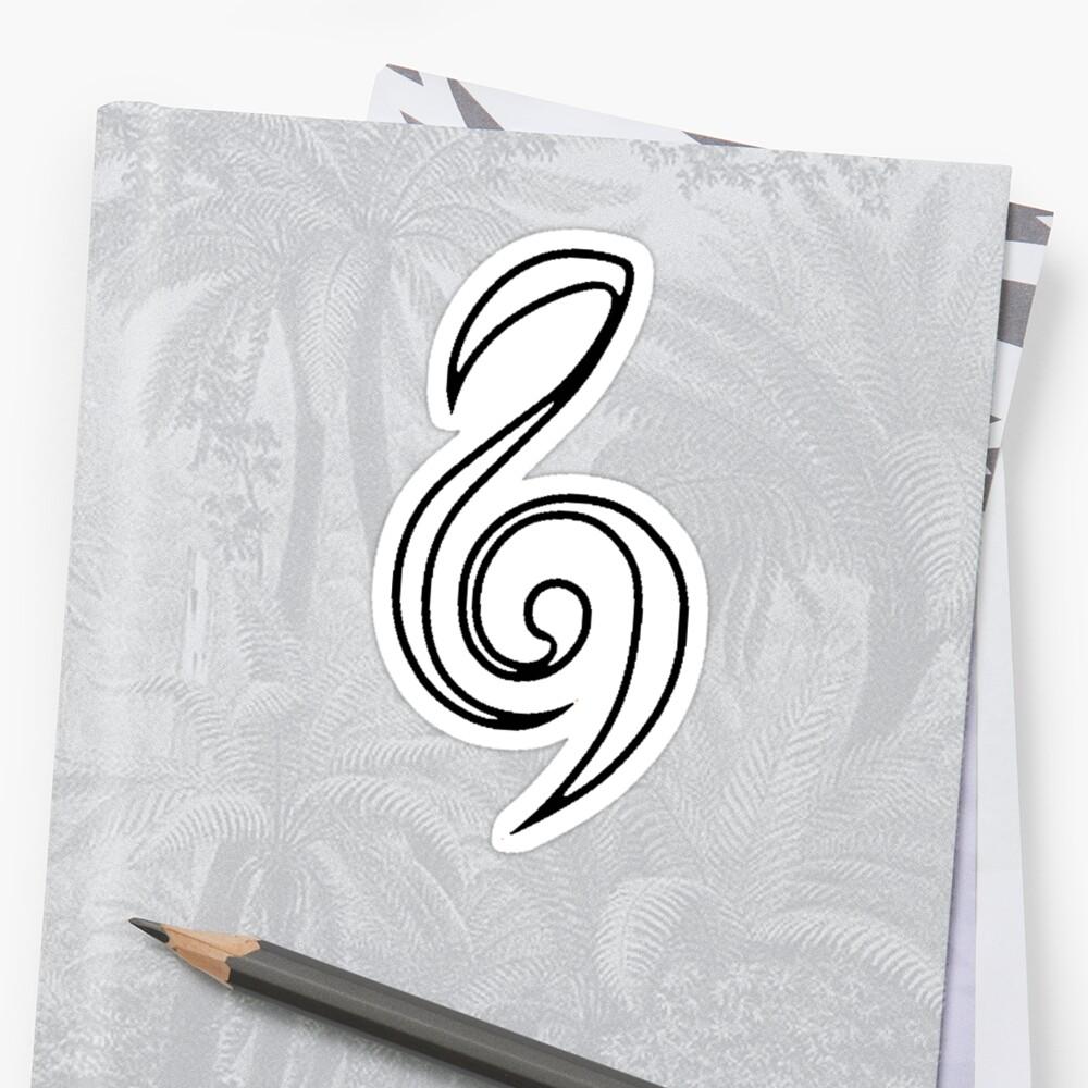 Zelda Hero Clef Violin Music Symbol Minimal Ocarina Stickers By