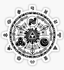 Zelda Time Portal Gate Minimal Design Skyward Sword White Version Sticker