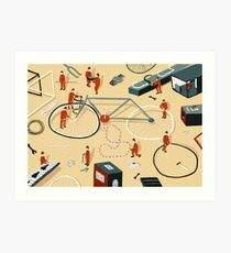 Bicycle building Art Print