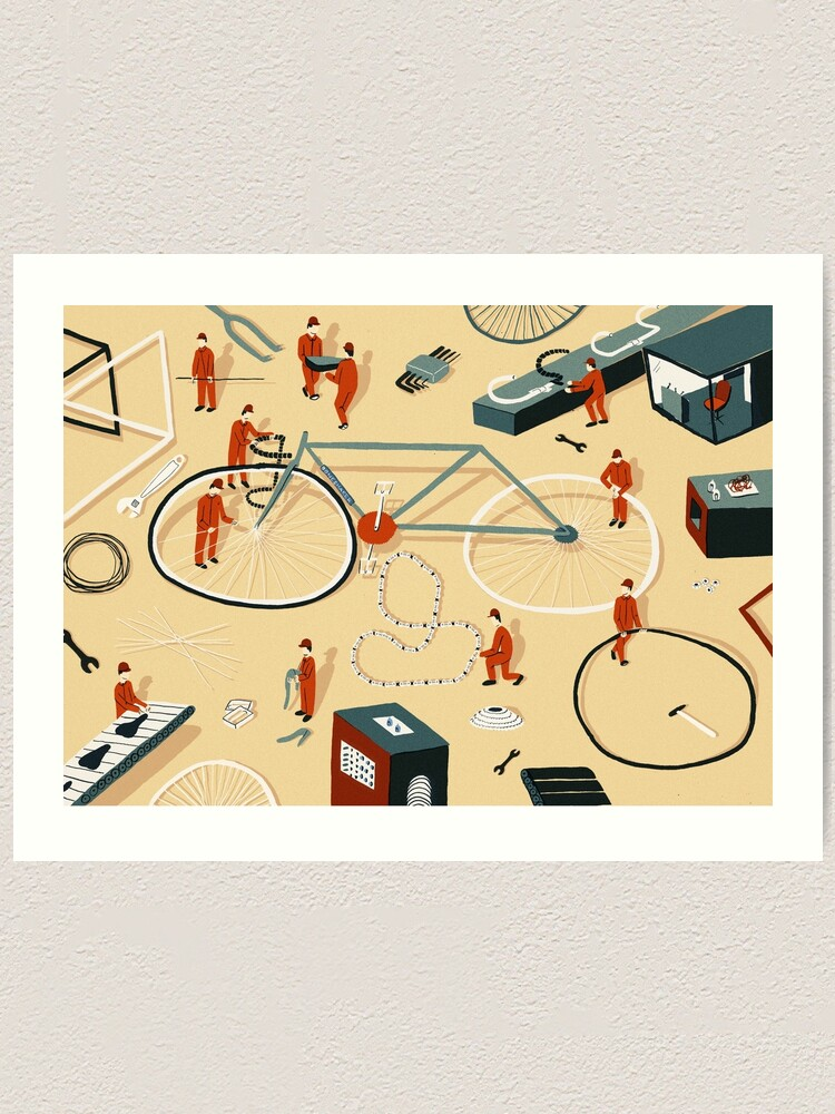 Alternate view of Bicycle building Art Print