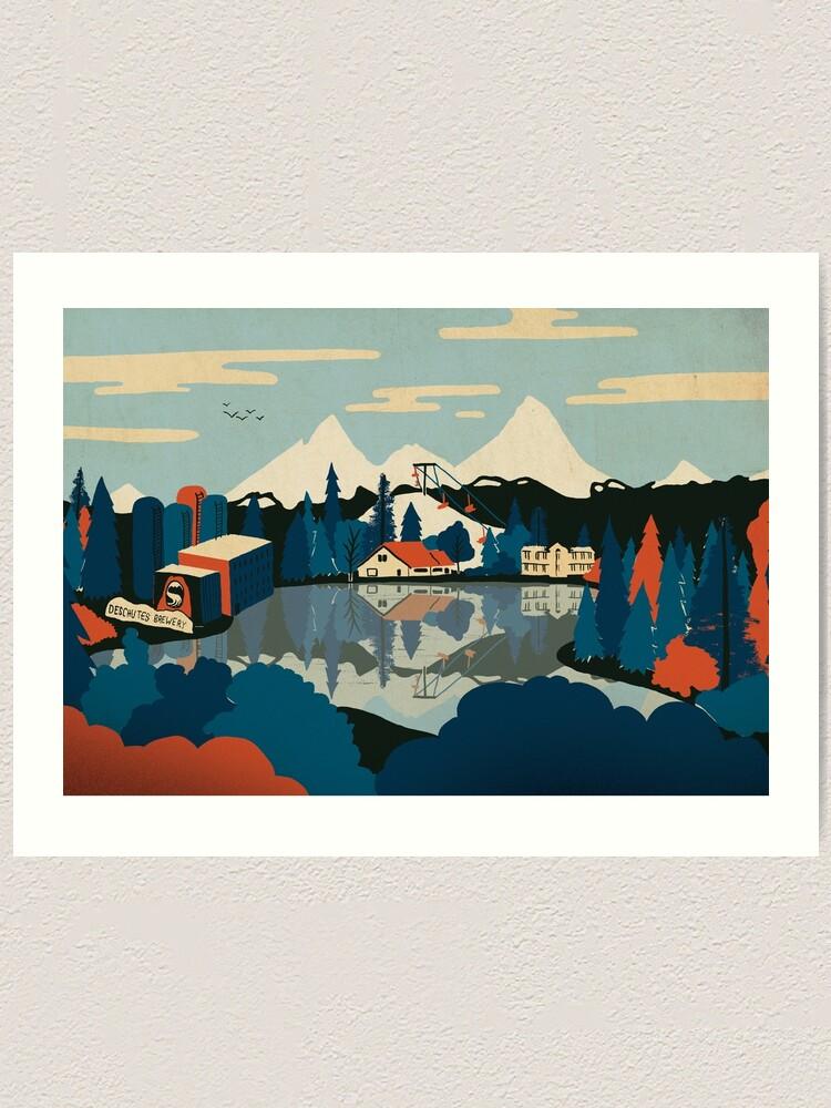 Alternate view of Mirror Pond Art Print