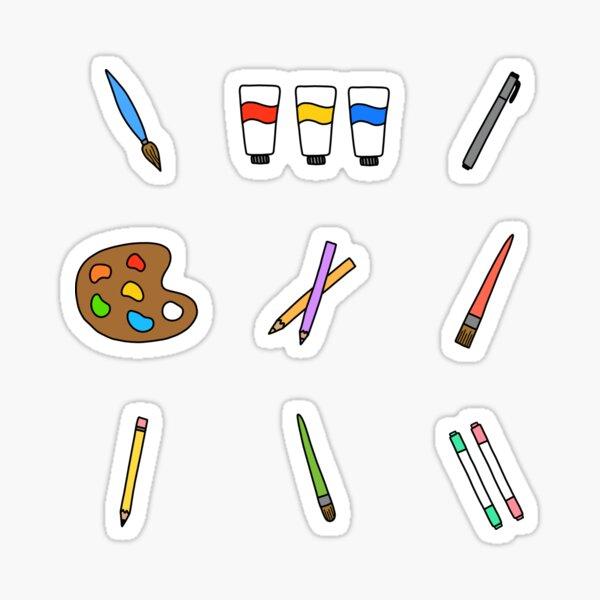 Art Supplies Sticker