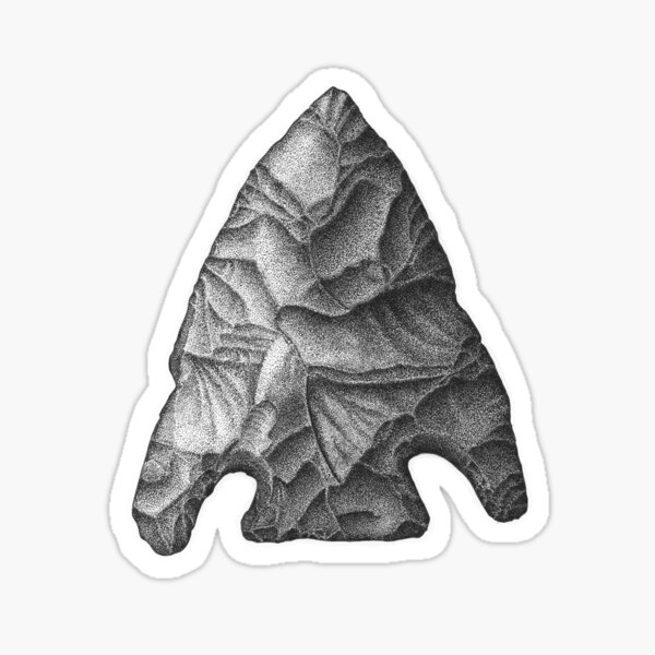 Projectile Point Sticker
