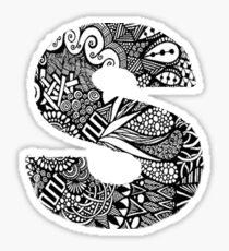 S letter Sticker