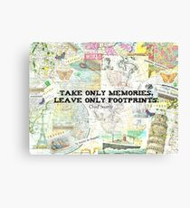 Travel Chief Seattle inspirational ecology quote Canvas Print