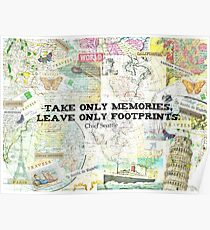 Travel Chief Seattle inspirational ecology quote Poster