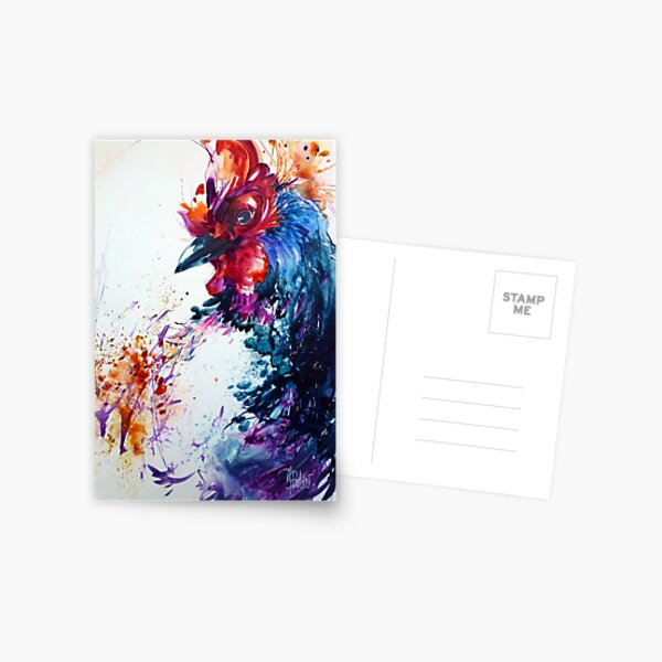 Coq en fête Postcard