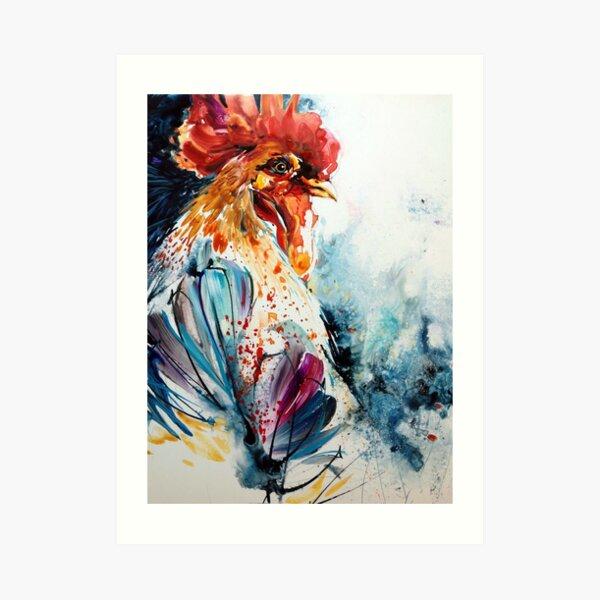 Coq jaune Art Print