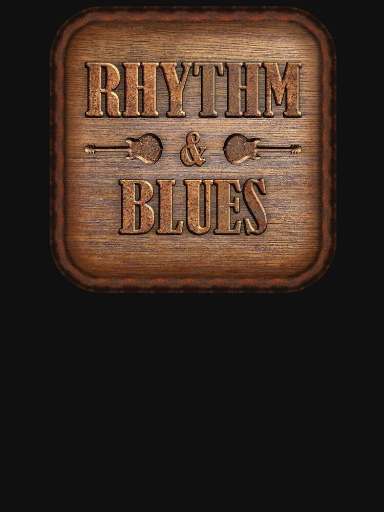 Wonderful Rhythm & Blues Wood And Rust Sign by adlirman