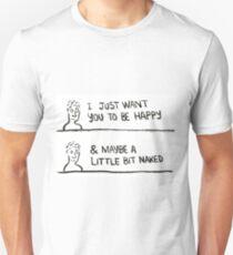 Happy & Naked! T-Shirt