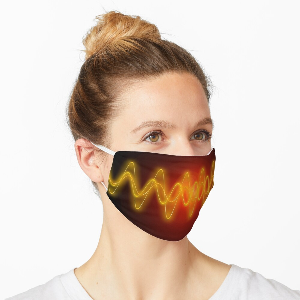 Red-Yellow EMF Wave Mask Abstraction Mask
