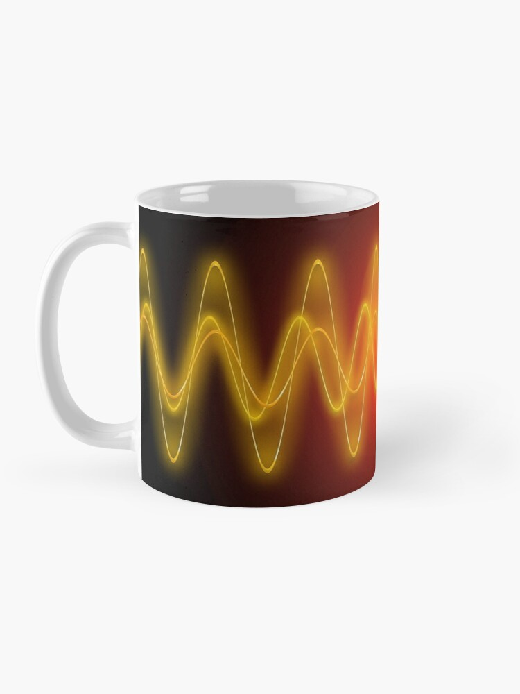 Alternate view of Red-Yellow EMF Wave Mask Abstraction Mug