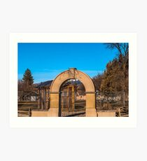 Old School Arch, Wild Horse Plains, Montana Art Print