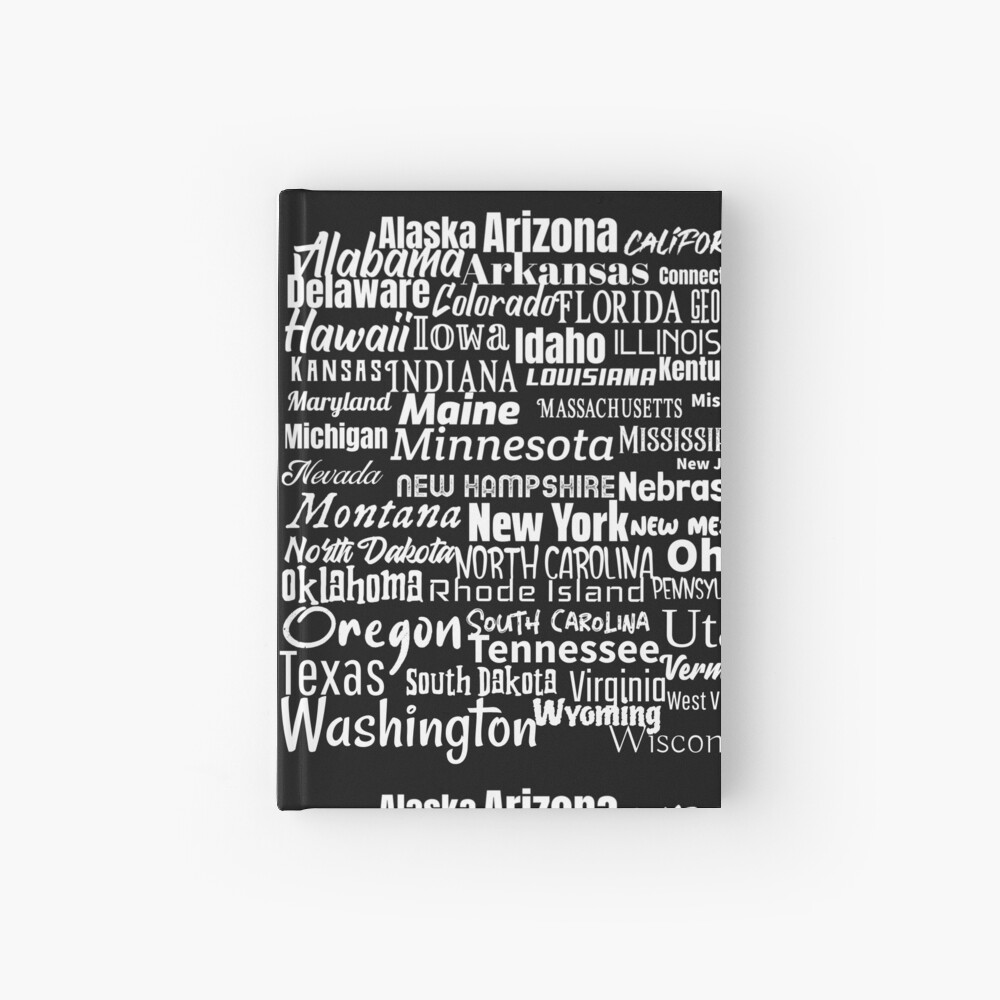 50 American States Hardcover Journal