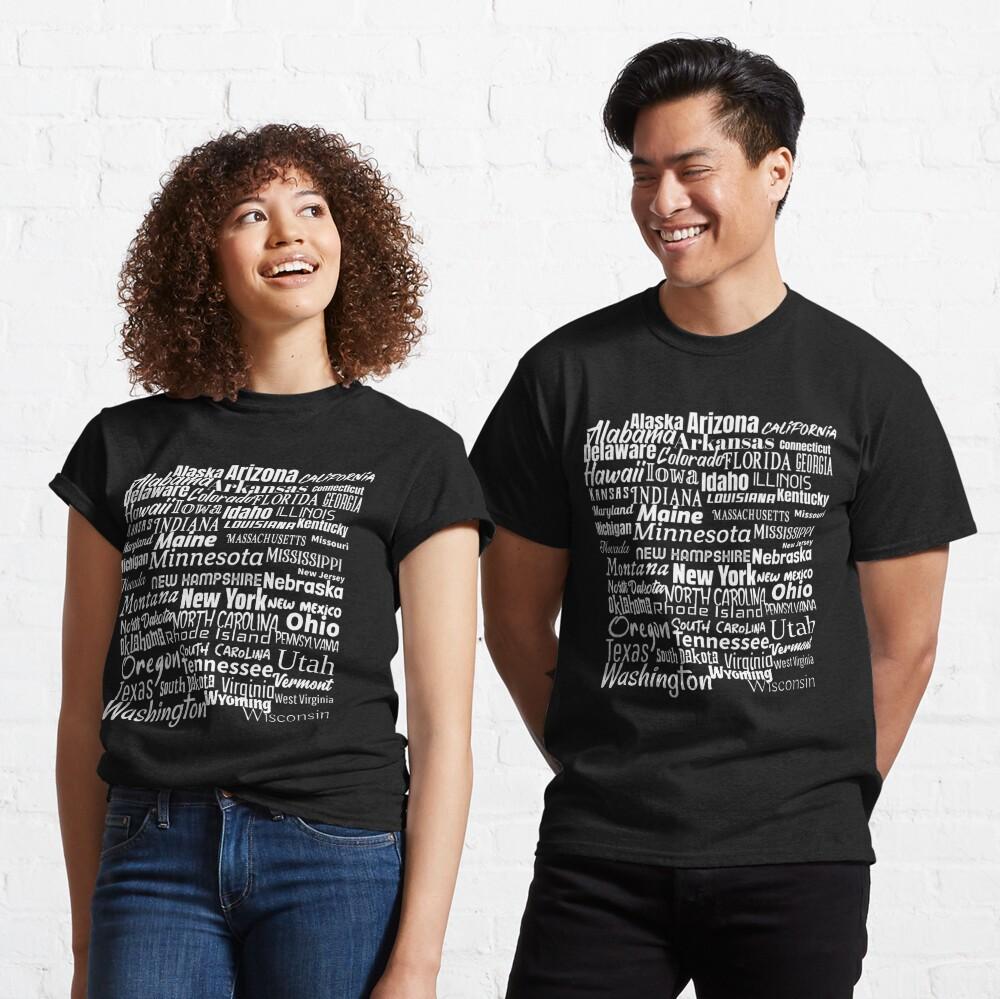50 American States Classic T-Shirt
