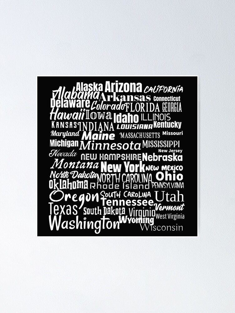 Alternate view of 50 American States Poster