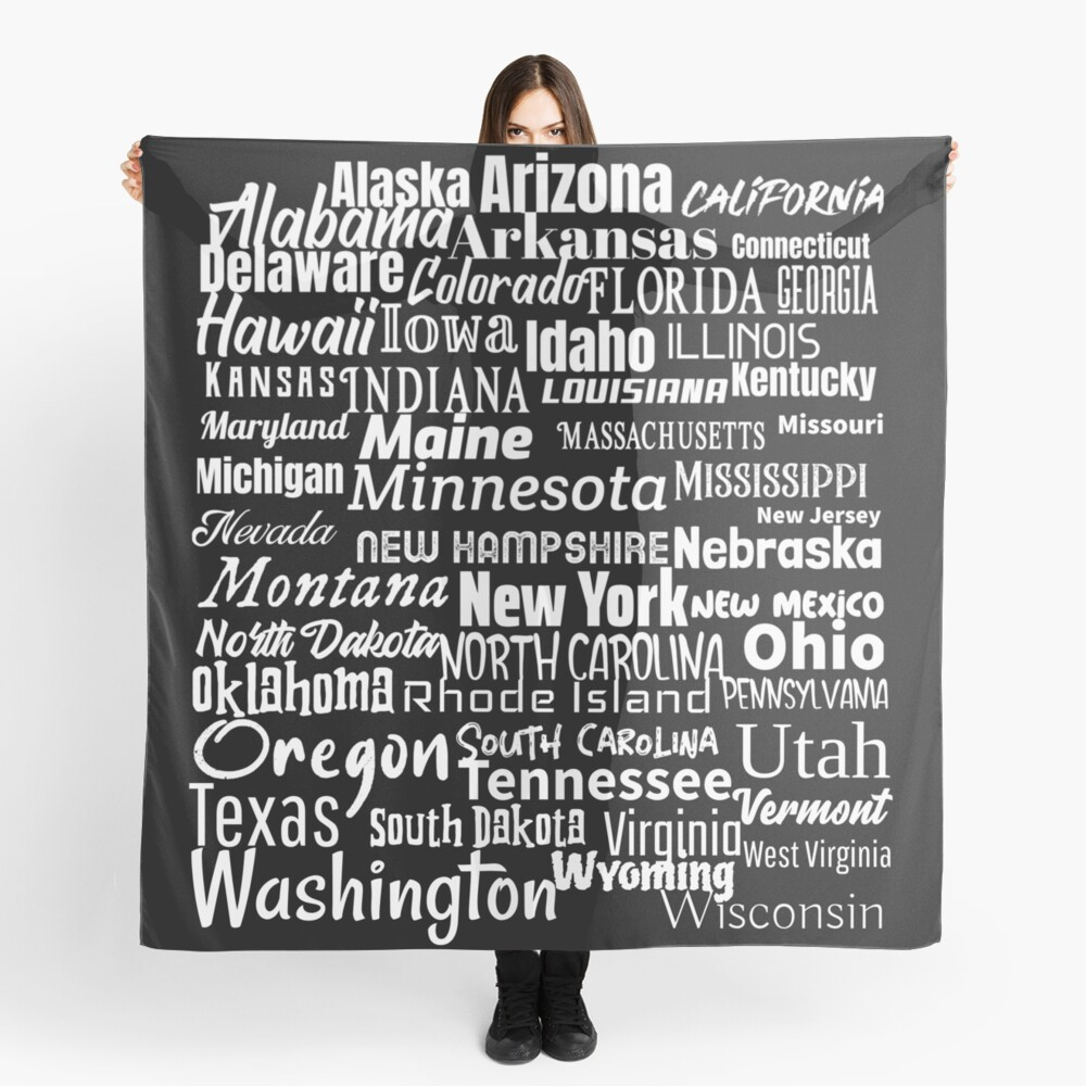 50 American States Scarf