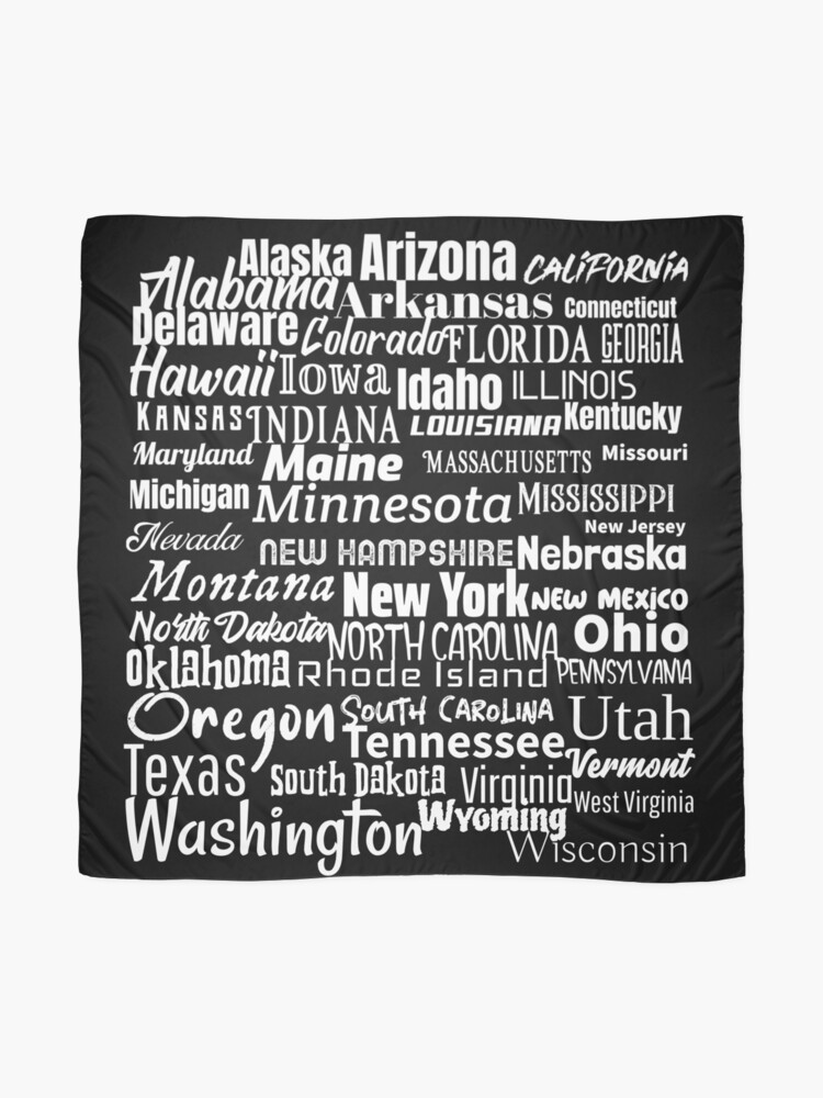 Alternate view of 50 American States Scarf