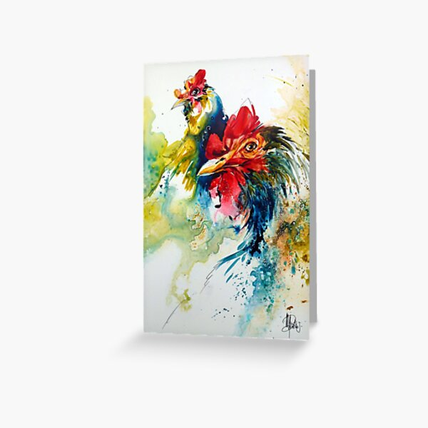 Poulettes bleues Greeting Card