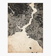 Istanbul map ink lines Photographic Print