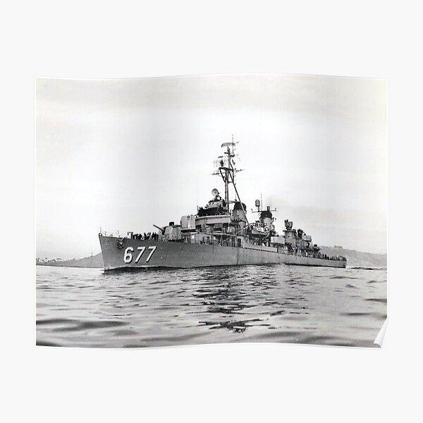 USS MCDERMUT (DD-677) SHIP'S STORE Poster