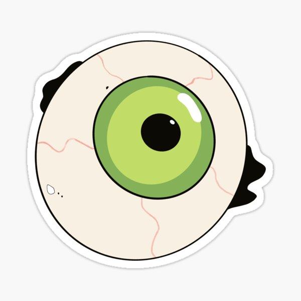 Spooky Halloween die-cut creepy eyeball sticker Sticker
