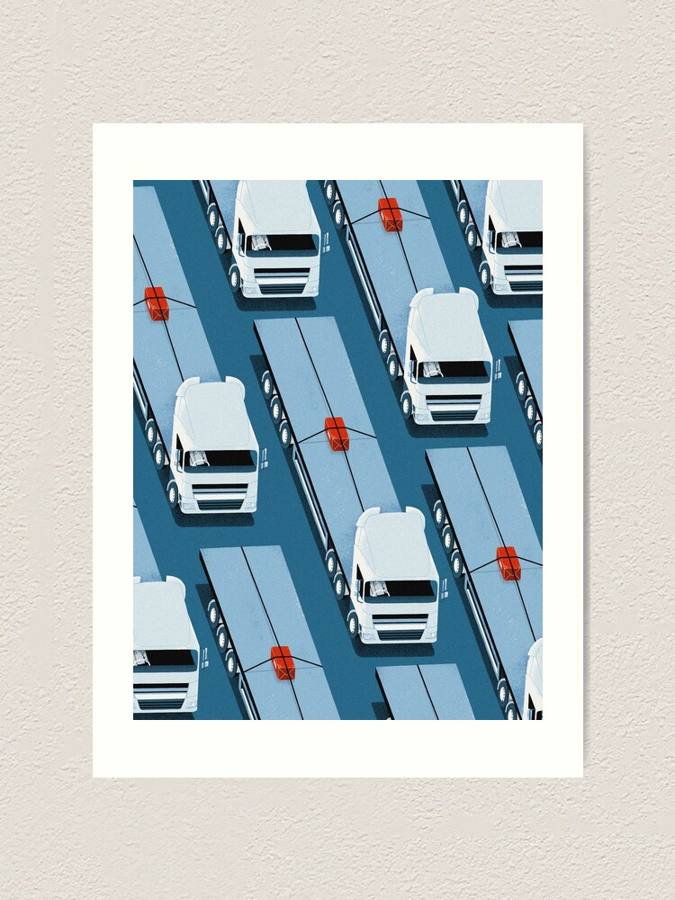 Alternate view of Tiny Delivery Art Print