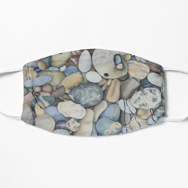Pescadero Beach Pebbles Watercolor Flat Mask