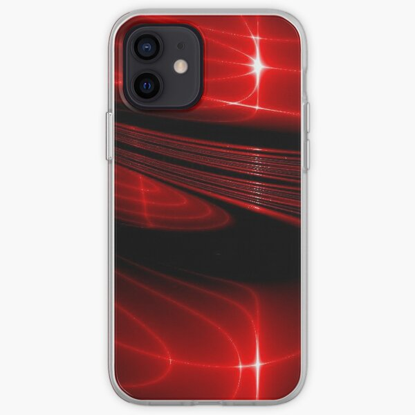 Hypnotic Alien Sunset Mask Abstraction iPhone Soft Case