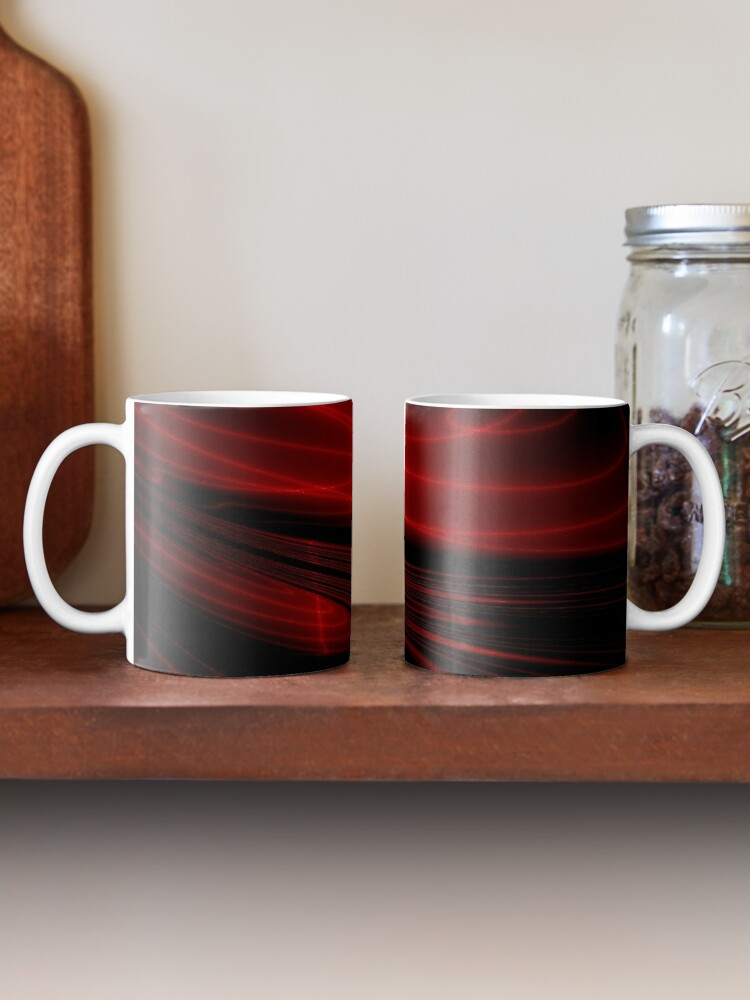 Alternate view of Hypnotic Alien Sunset Mask Abstraction Mug