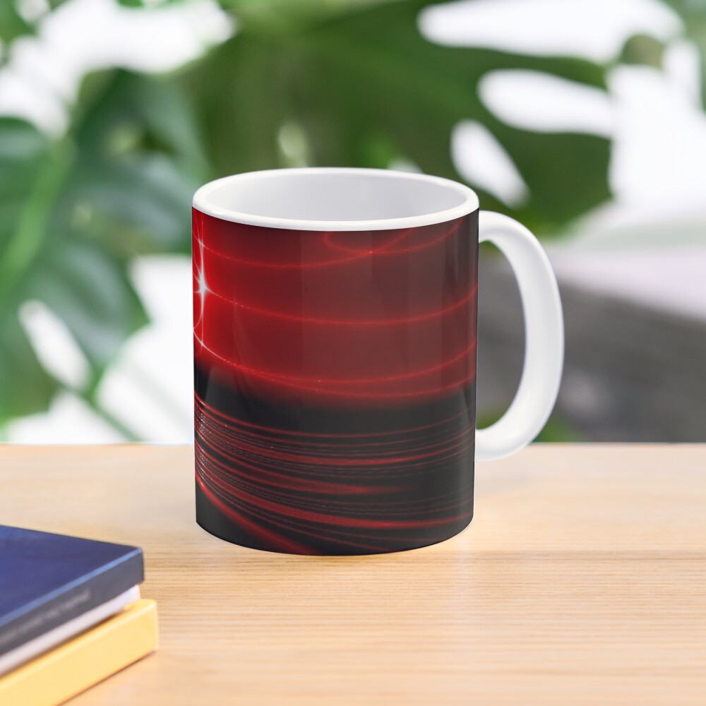 Hypnotic Alien Sunset Mask Abstraction Mug