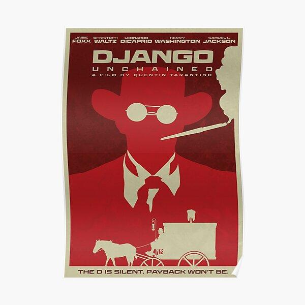 Django Unchained Minimalist Film Poster Poster