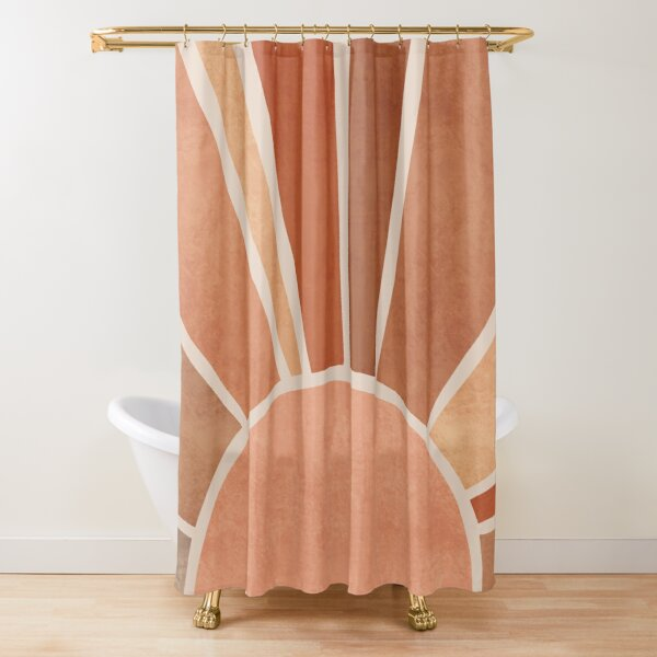 Warm boho sunrise Shower Curtain