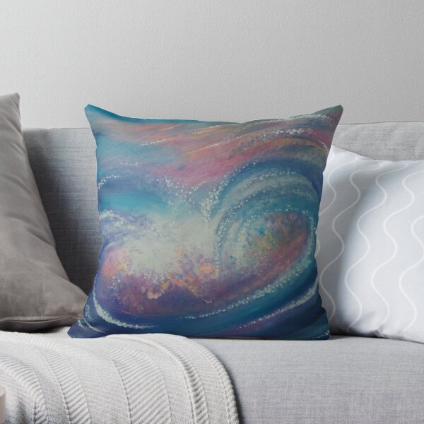 Wave Particles 1 Throw Pillow
