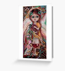 The Fairies of Wine series - Merlot Greeting Card