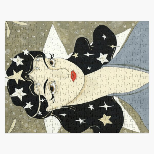 Remember me Remarkable - girl with stars Jigsaw Puzzle