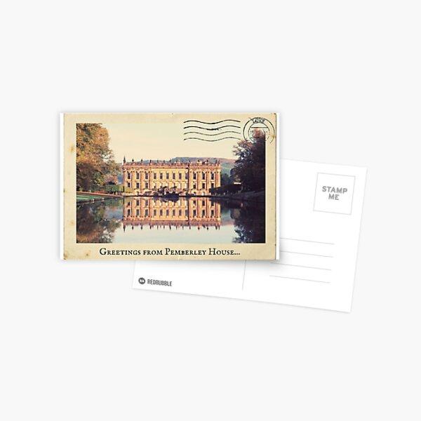 Jane Austen Postcard- Greetings from Pemberley Post card Postcard