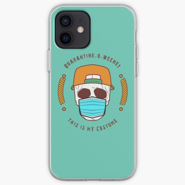 quarantine-o-ween! this is my costume iPhone Soft Case
