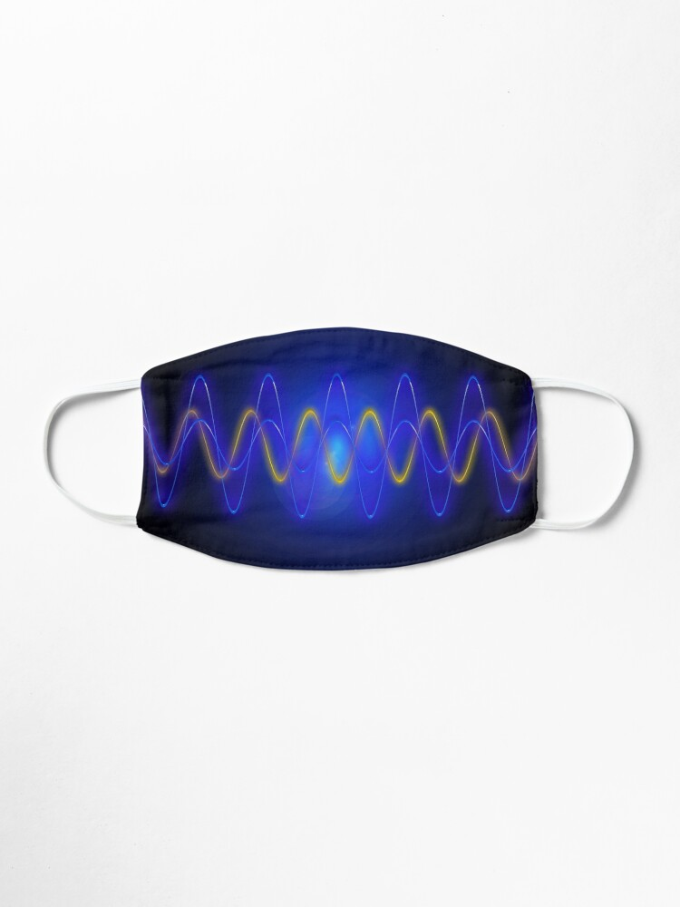 Alternate view of Cool Blue EMF Wave Mask Abstraction Mask