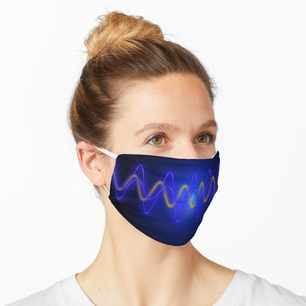 Cool Blue EMF Wave Mask Abstraction Mask