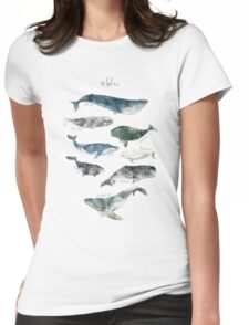Whales Womens Fitted T-Shirt