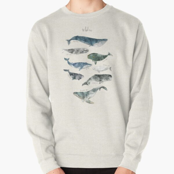Whales Pullover Sweatshirt