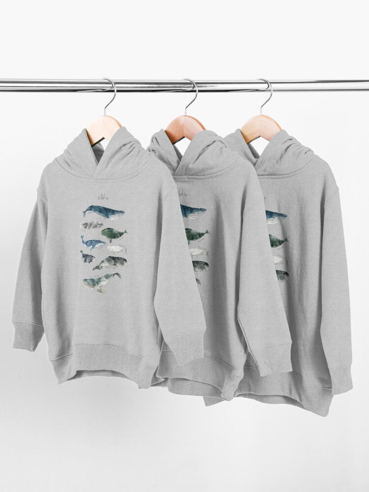 Alternate view of Whales Toddler Pullover Hoodie